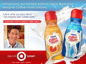 David Bromstad with Coffee-Mate