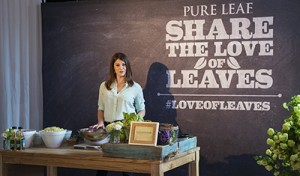 Gail Simmons with Pure Leaf Tea